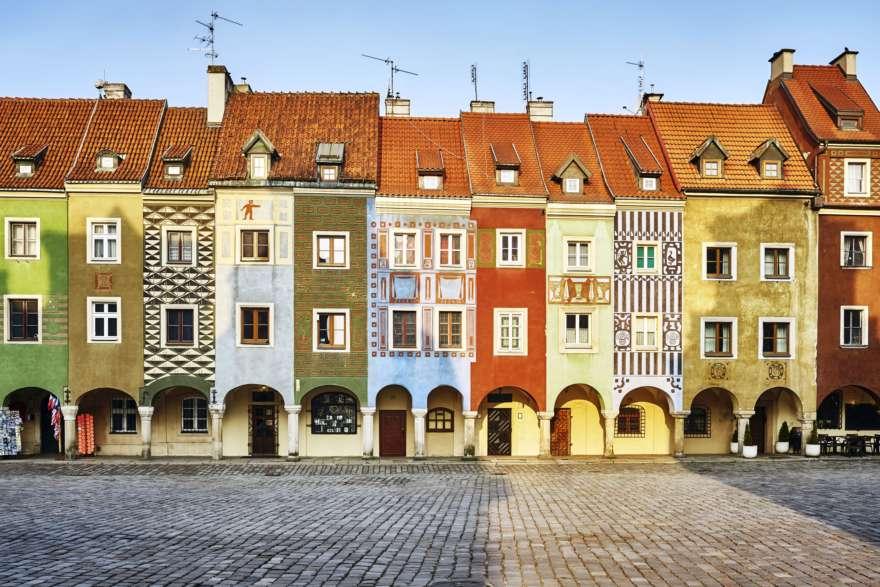 Bürgerhäuser in Posen in Polen