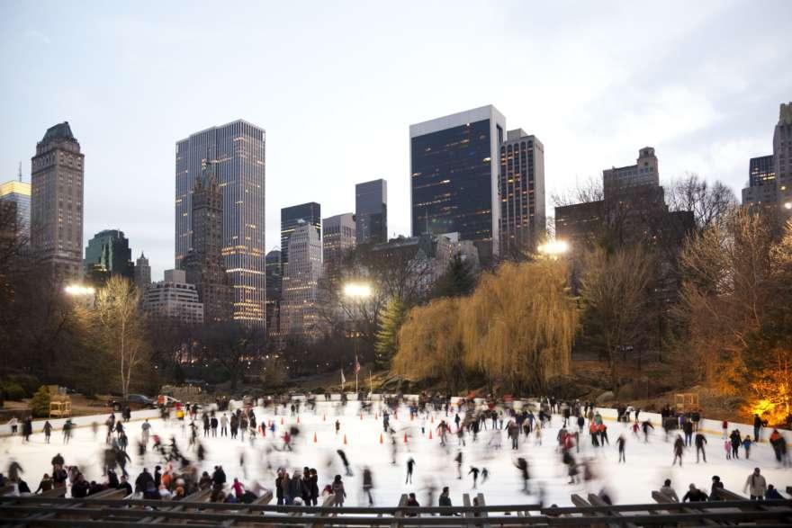 New York Eislaufen im Central park