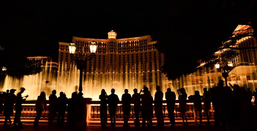 wasserfontänen vor dem Bellagio Hotel in Las Vegas
