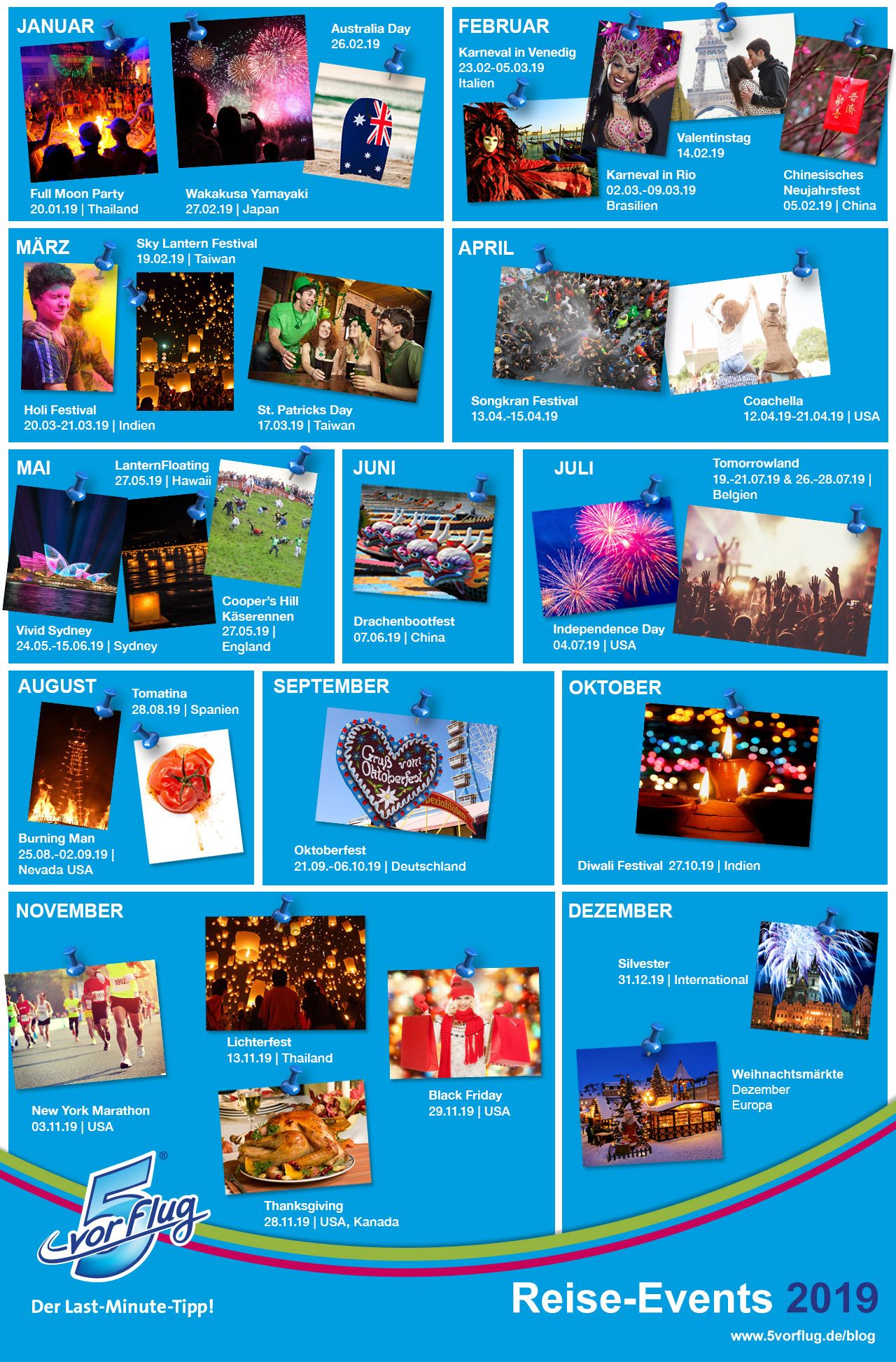 Reise-Eventkalender 2019