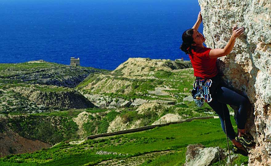 Klettern auf Malta