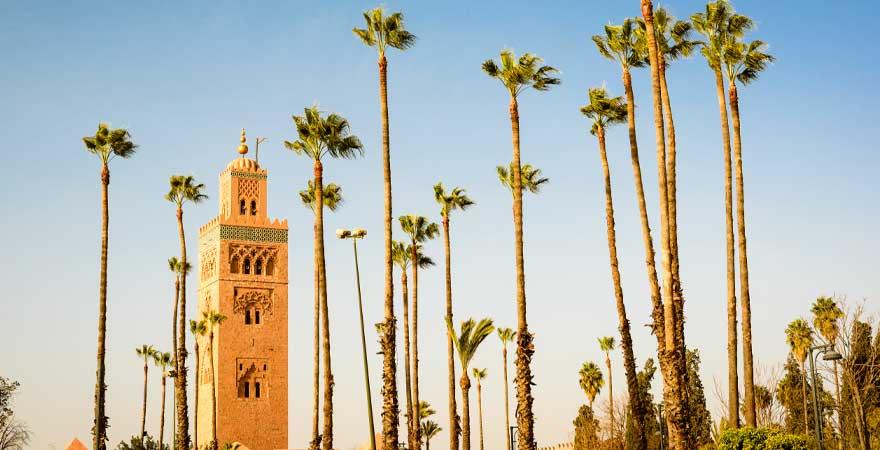 Koutoubia Minaret in Marrakesch