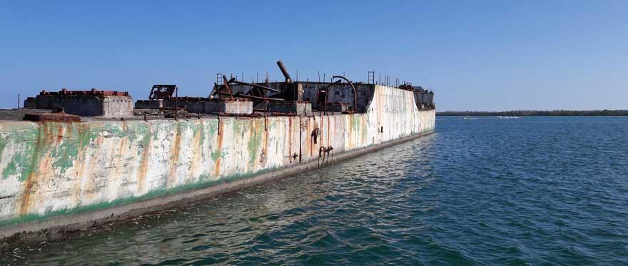 Schiffswrack bei Cayo Santa Maria
