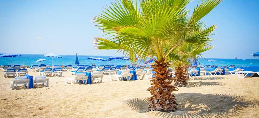 Strand in Alanya in der Tuerkei