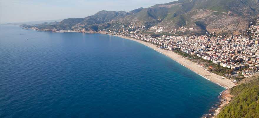 Kleopatra Beach an der türkischen Riviera