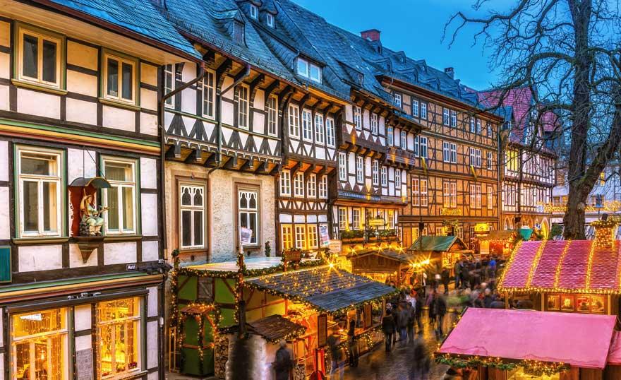 Weihnachtsmarkt in Goslar im Harz in Deutschland
