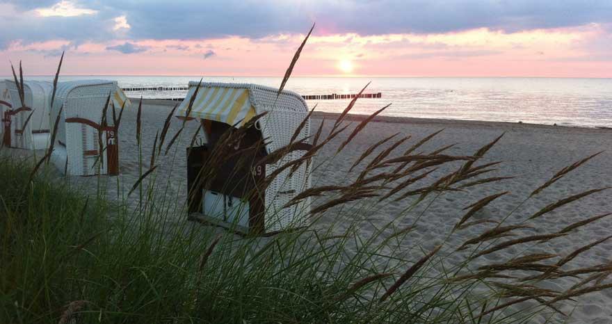 Kühlungsborn an der Ostsee in Deutschland