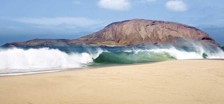 Strand Playa Las Conchas in Spanien