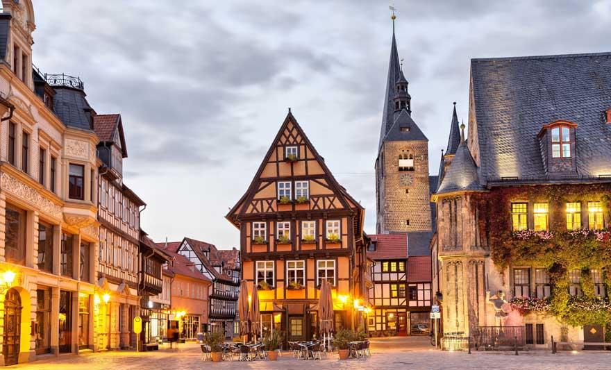 Quedlinburg im Harz in Deutschland