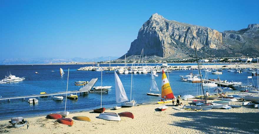 Strand San Vito Lo Capo auf Sizilien in Italien