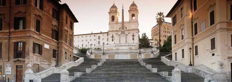 Spanische Treppe in Rom in Italien