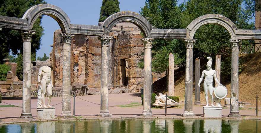 Hadriansvilla bei Rom in Italien