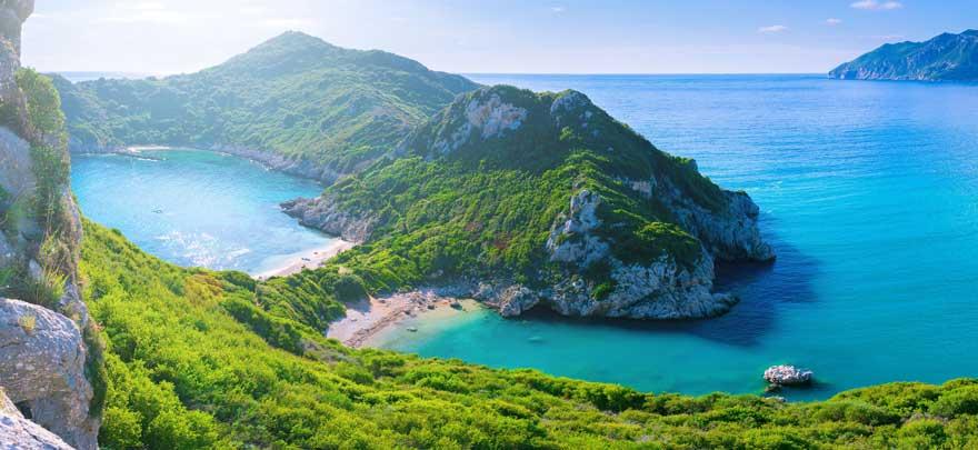 Afionas auf Korfu in Griechenland