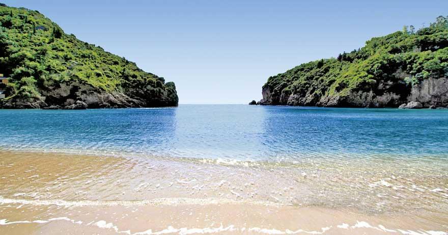 Glyfada auf Korfu in Griechenland