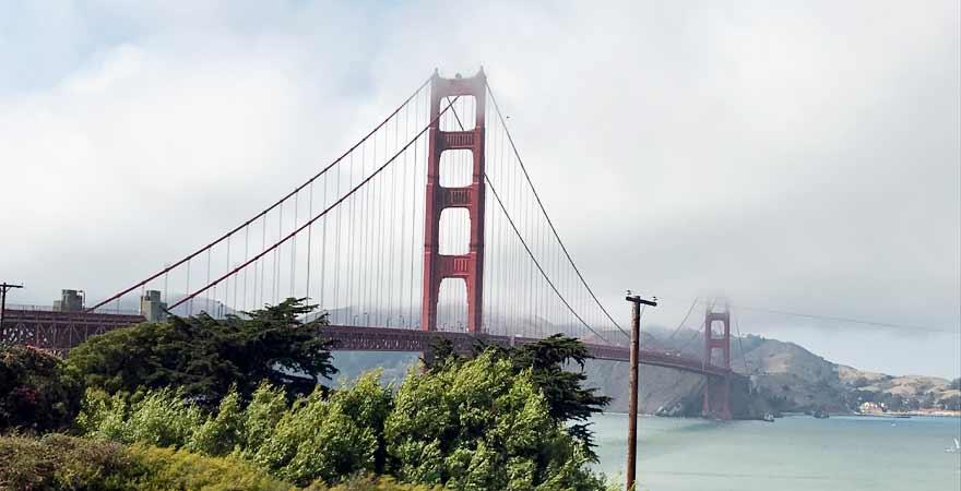 Golden Gate Bridge in San Francisco in Kalifornien