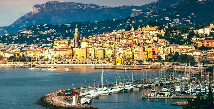 Menton an der Cote d'Azur in Frankreich