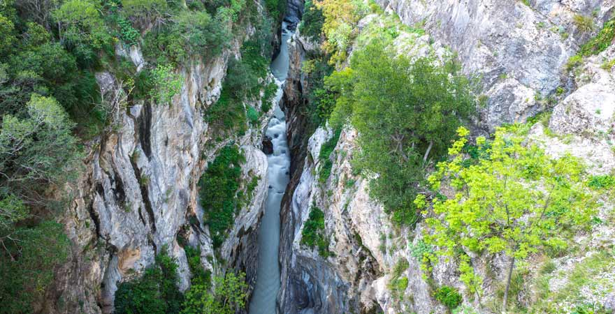 Raganello-Schlucht in Kalabrien in Italien