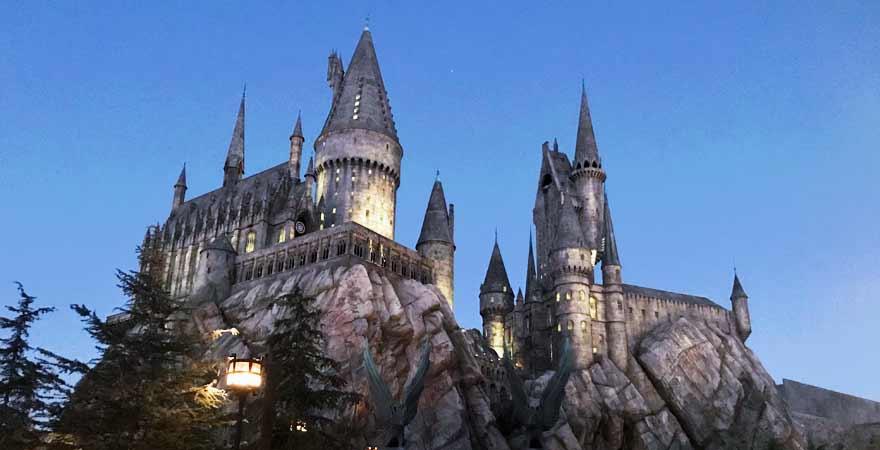 Hogwarts in den Universal Studios in Los Angeles