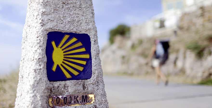 Wandern in Santiago de Compostela in Spanien