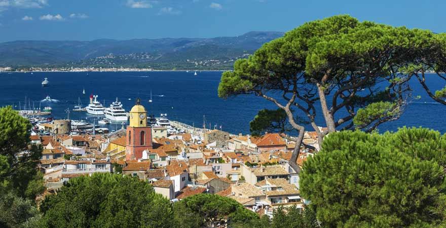 Saint Tropez an der Cote d'Azur in Frankreich