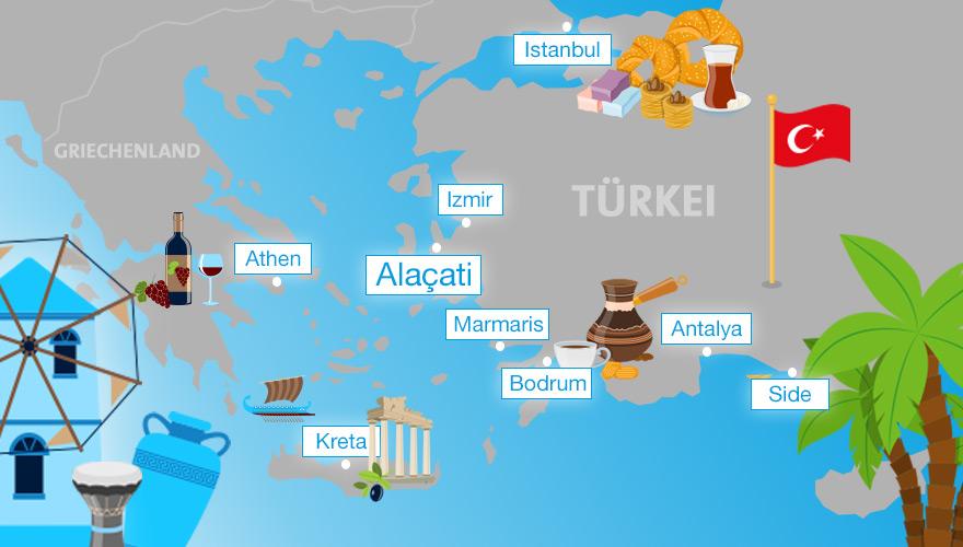 Karte von der Türkei