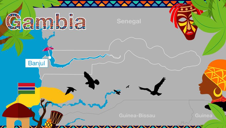 Karte von Gambia