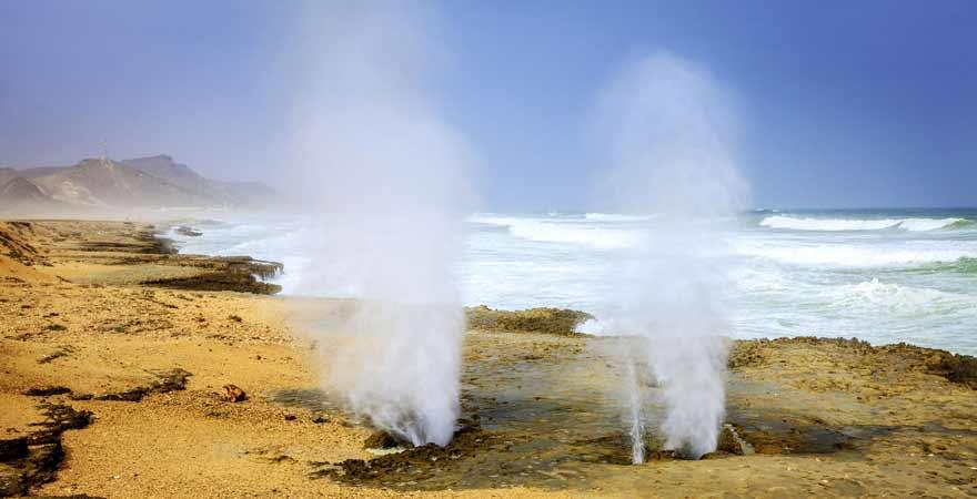 Mughsail Blowholes bei Salalah im Oman