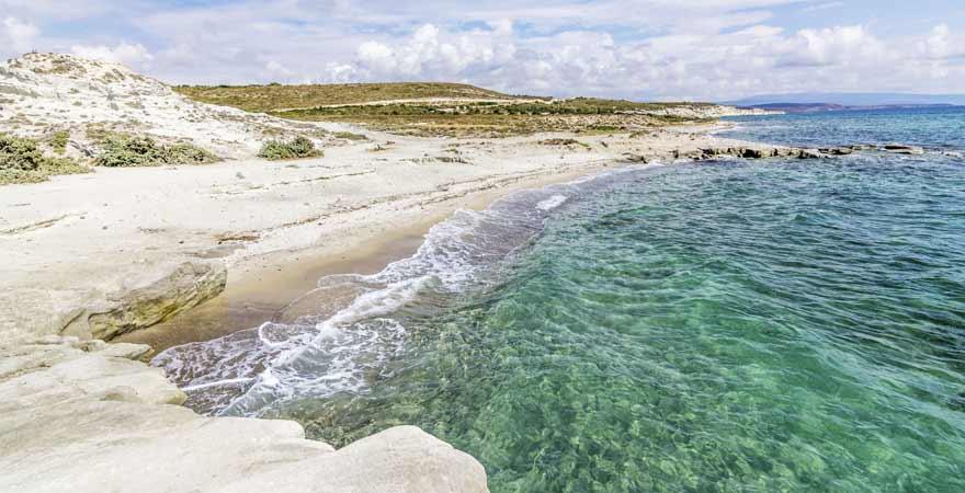 Strand von Alacati in der Tuerkei