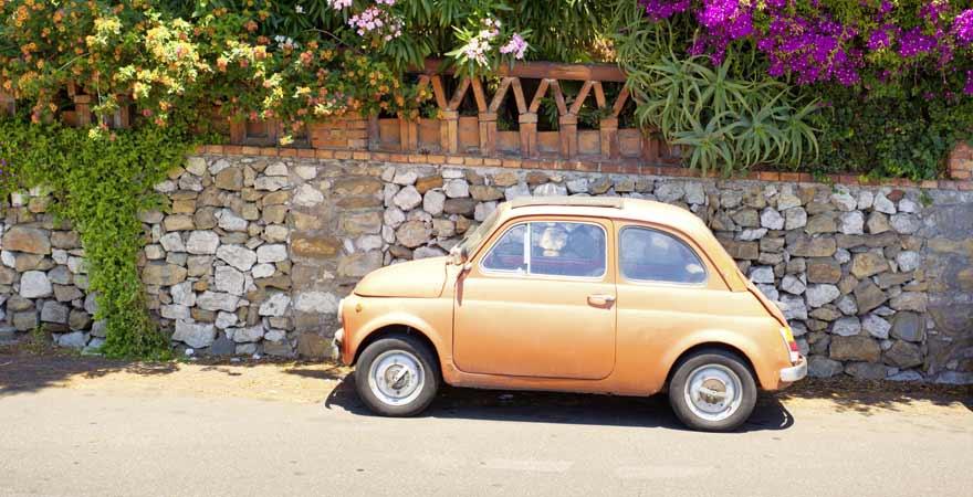 Fiat in Taormina auf Sizilien