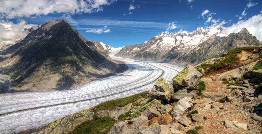 Aletsch Gletscher in der Schweiz