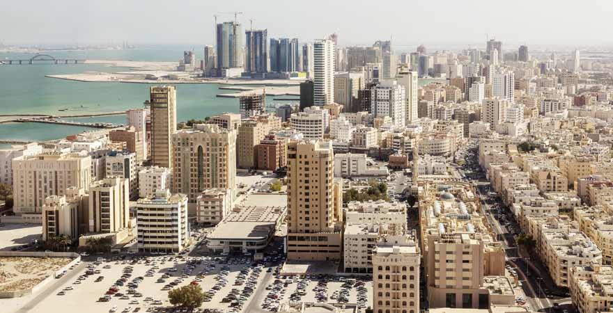 Bahrain von oben