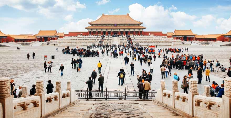 Die Verbotene Stadt in Peking in China