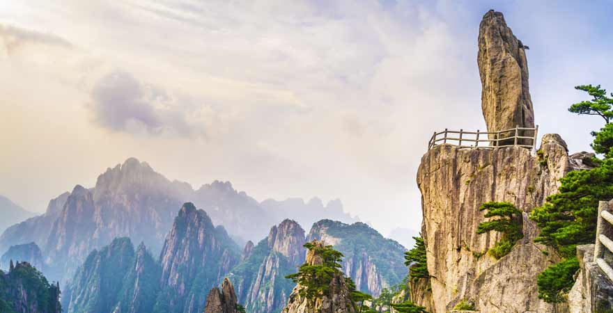 Huang Shan Gelbe Berge in China