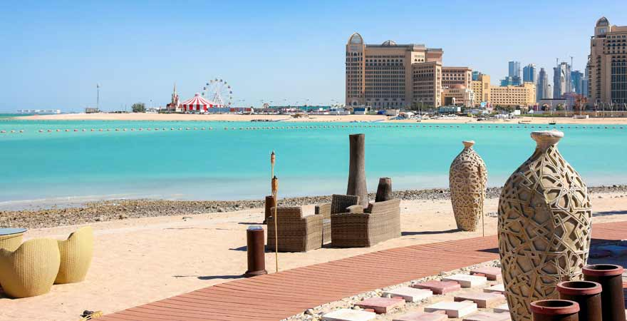Katara Beach in Doha in Katar