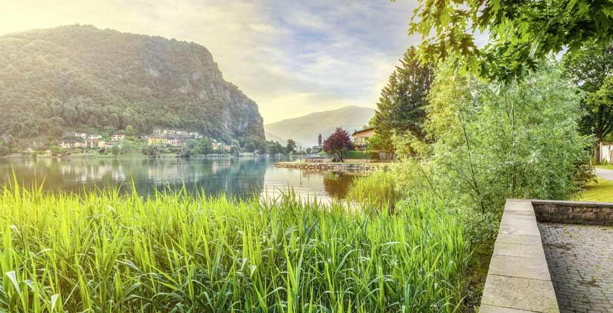 Luganer See in der Schweiz