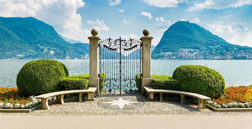 Lugano in der Schweiz