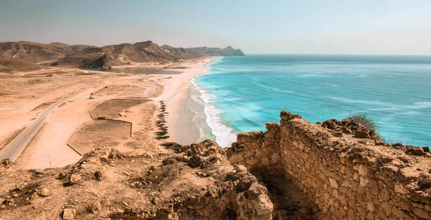 Mughsail Beach bei Salalah im Oman