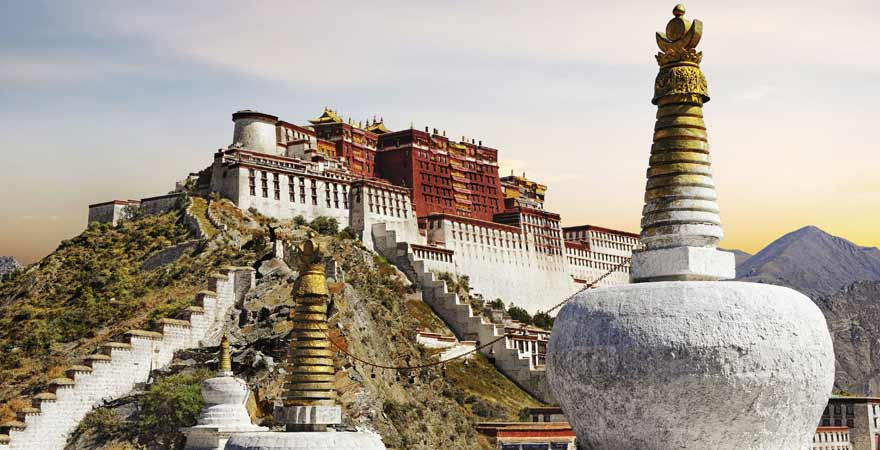 Potala Palast in Tibet in China