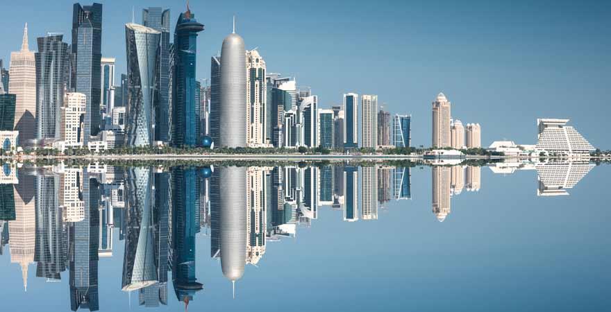 Skyline von Doha in Katar