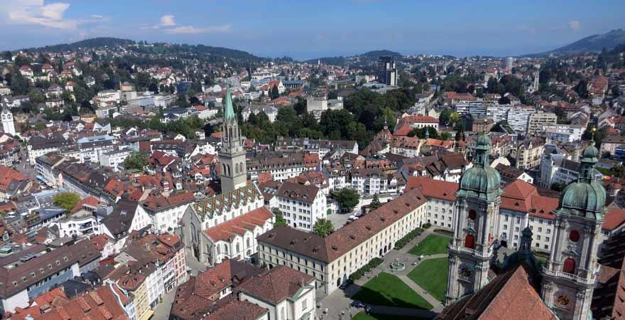 St Gallen in der Schweiz