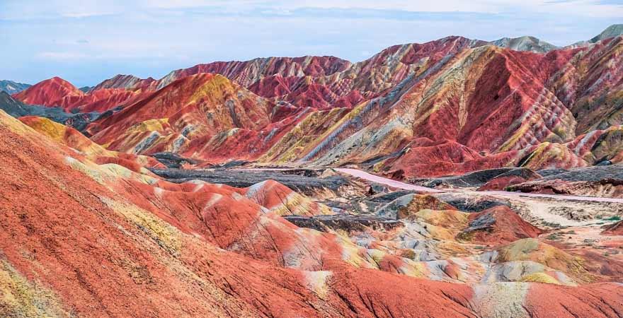 Zhangye-Danxia-Geopark, Regenbogenberge in China