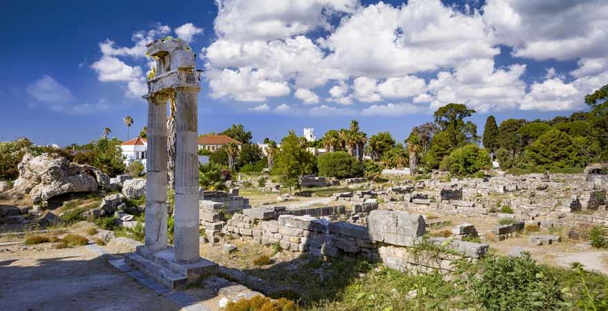 agora in Kos Stadt auf Kos in Griechenland