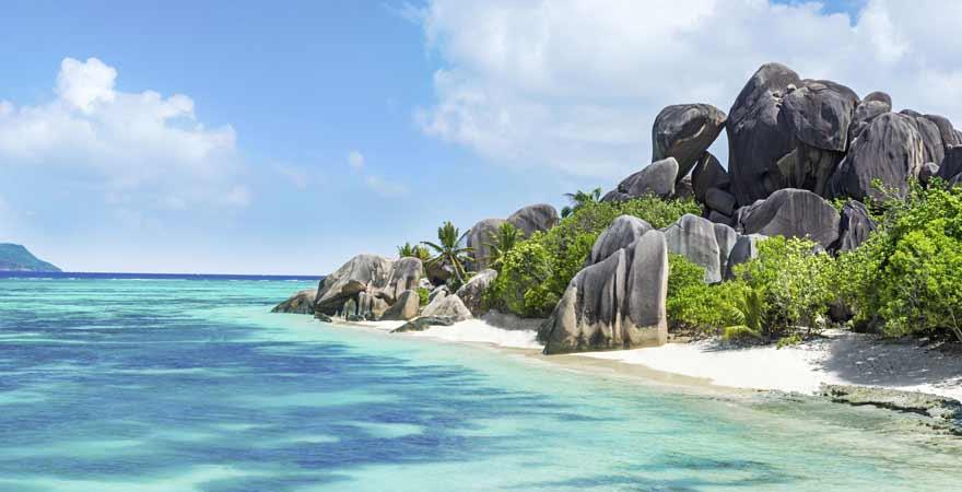 Anse Source d Argent auf den Malediven