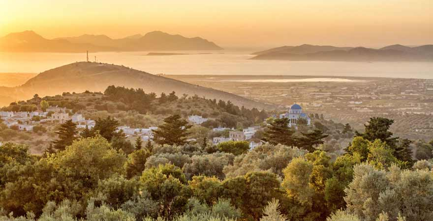 Bergdorf Zia auf Kos in Griechenland