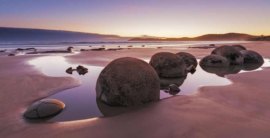 Koekohe Beach in Neuseeland