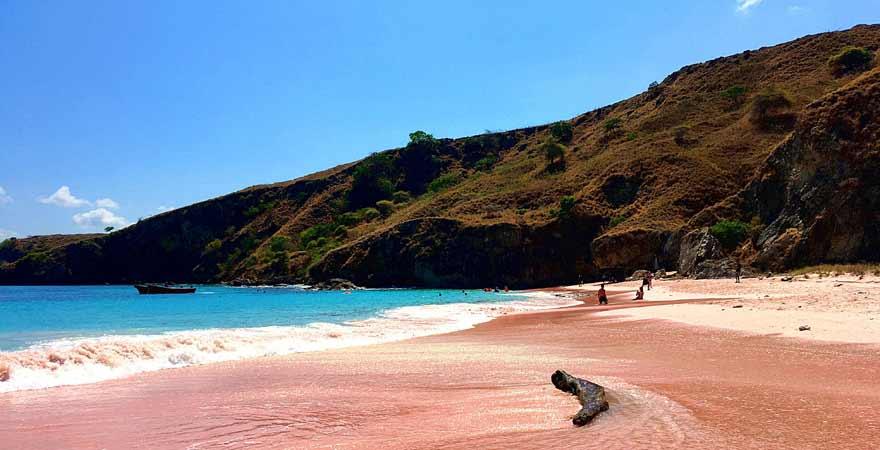 Pink Beach auf Komodo in Indonesien