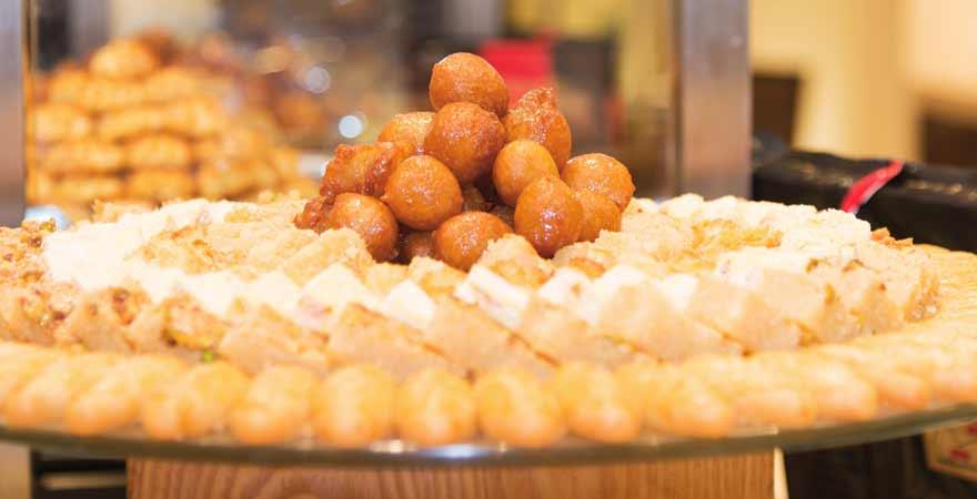 Dessert im Salalah Rotana Resorts im Oman