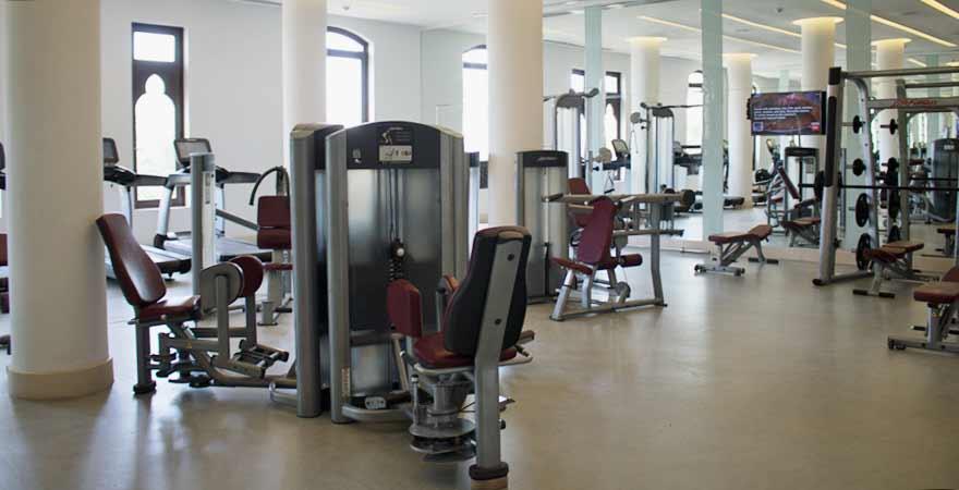 Fitnessstudio im Salalah Rotana Resort im Oman