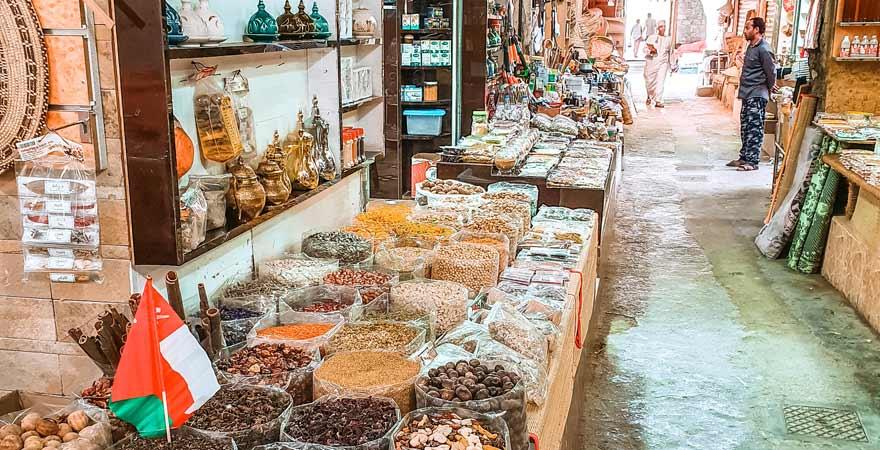 Gewürzsouk in Nizwa im Oman
