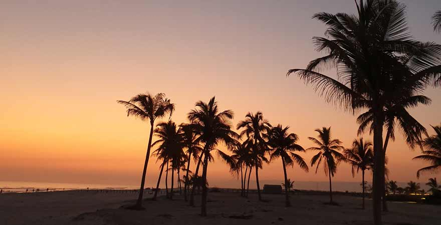 Sonnenuntergang im Salalah Rotana Resort im Oman